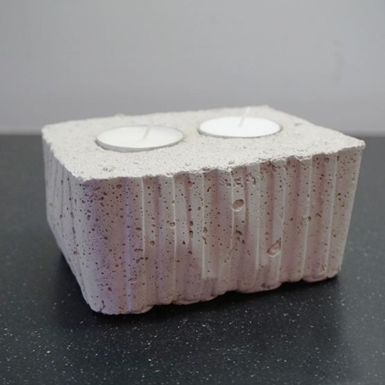 Theelichthouder van beton, type CHAM XL